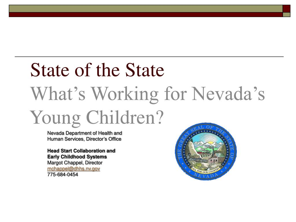 state of the state what s working for nevada s young children l.