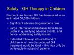 safety gh therapy in children