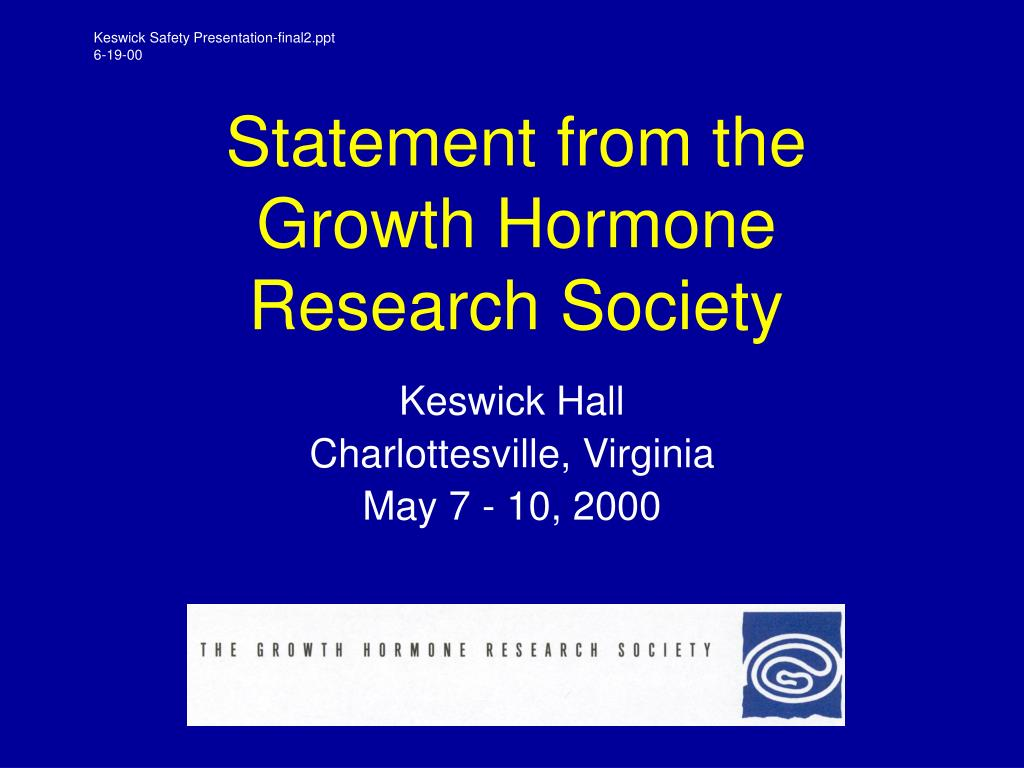 statement from the growth hormone research society l.
