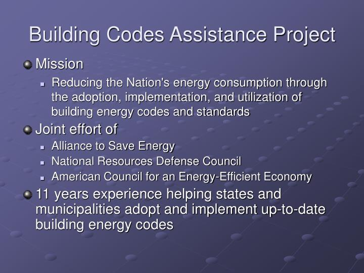 Building codes assistance project