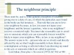 the neighbour principle