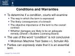 conditions and warranties42