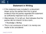 statement in writing