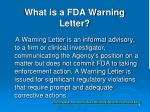 what is a fda warning letter