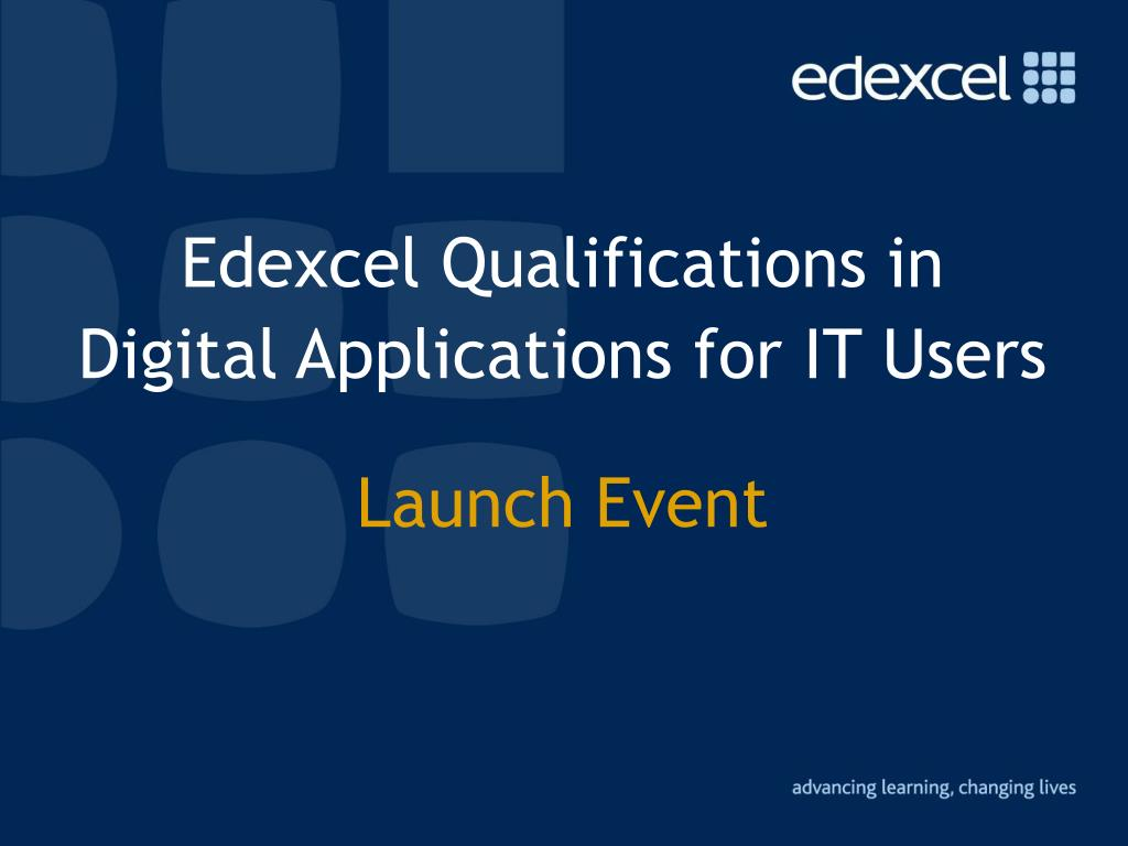 edexcel qualifications in digital applications for it users launch event l.