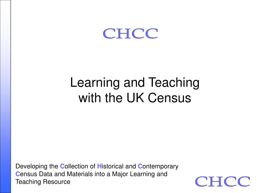 learning and teaching with the uk census l.