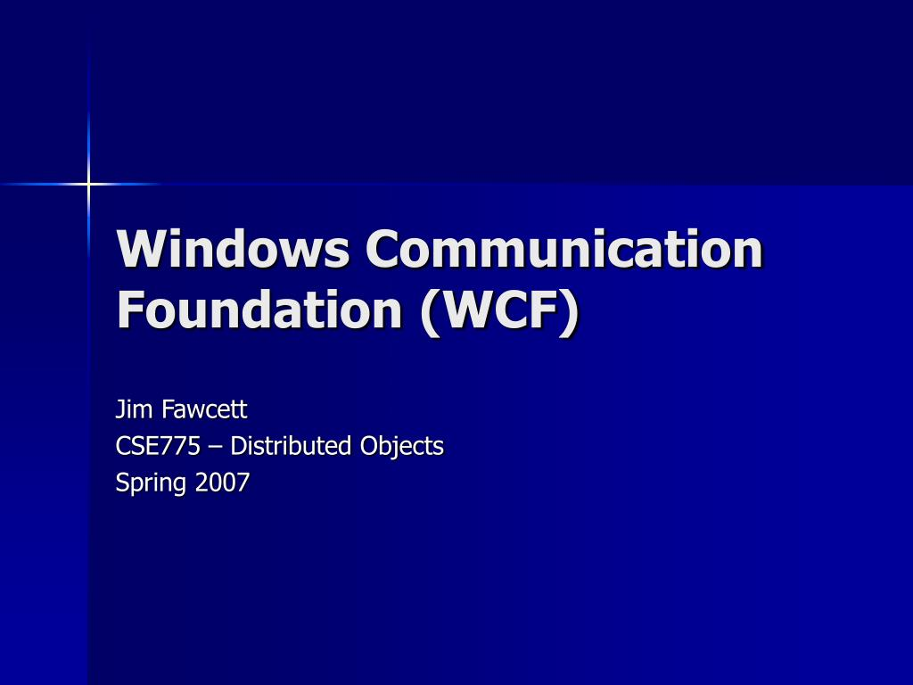 windows communication foundation wcf l.