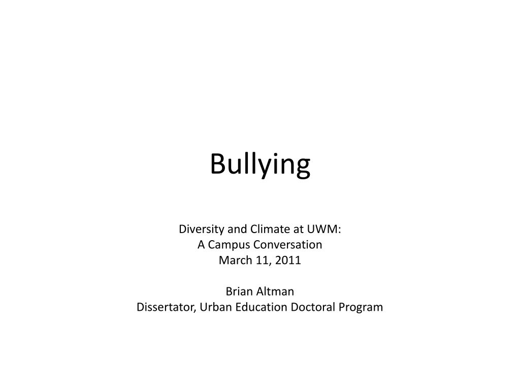 bullying l.