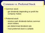 common vs preferred stock