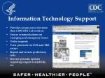 information technology support