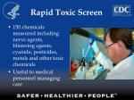 rapid toxic screen