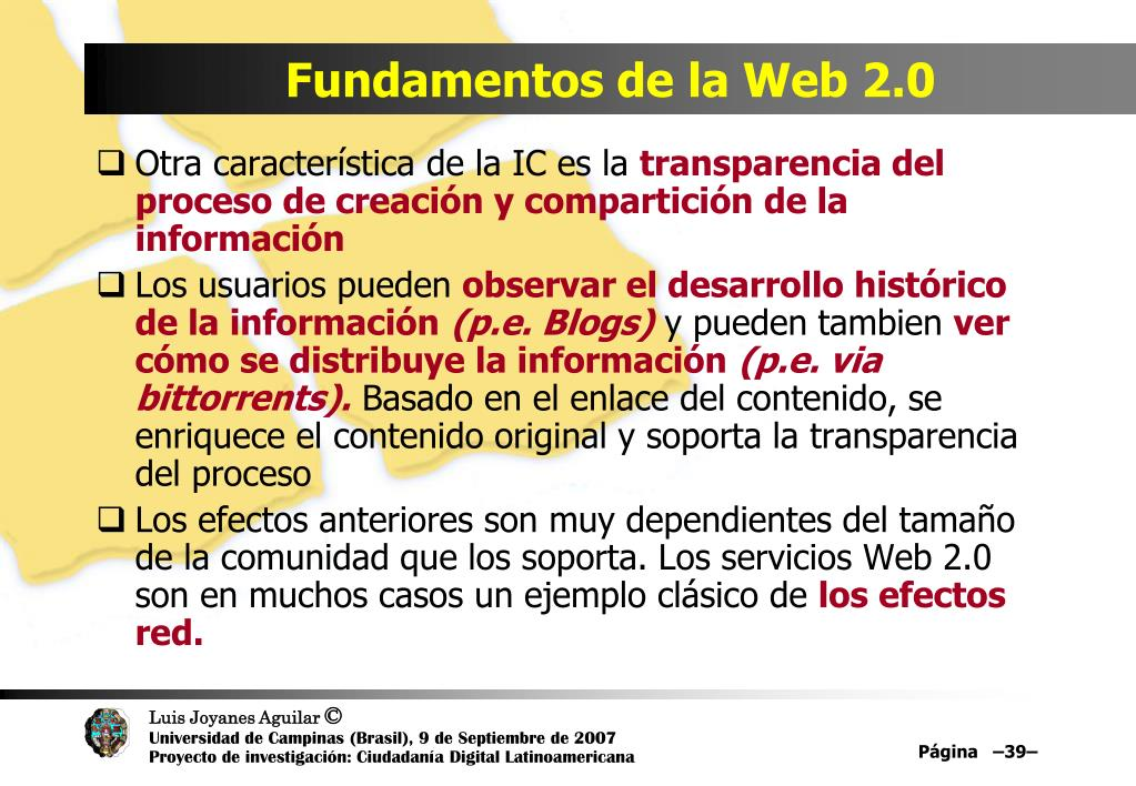 Fundamentos de la Web 2.0