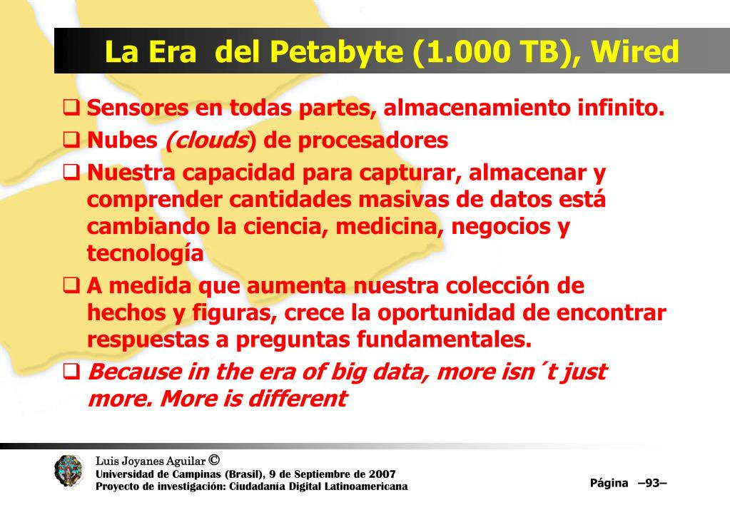 La Era  del Petabyte (1.000 TB), Wired