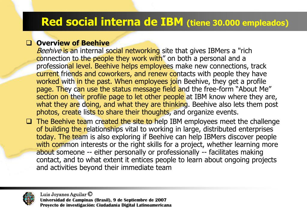 Red social interna de IBM