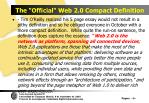 the official web 2 0 compact definition