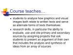 course teaches