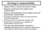ecology s responsibility