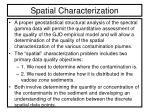 spatial characterization