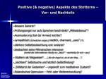 positive negative aspekte des stotterns vor und nachteile