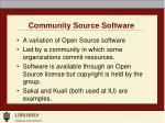community source software