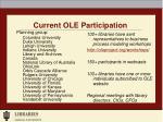 current ole participation