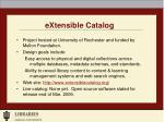 extensible catalog