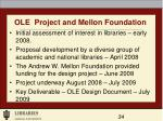 ole project and mellon foundation