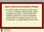 open library environment project