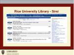 rice university library sirsi