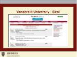 vanderbilt university sirsi