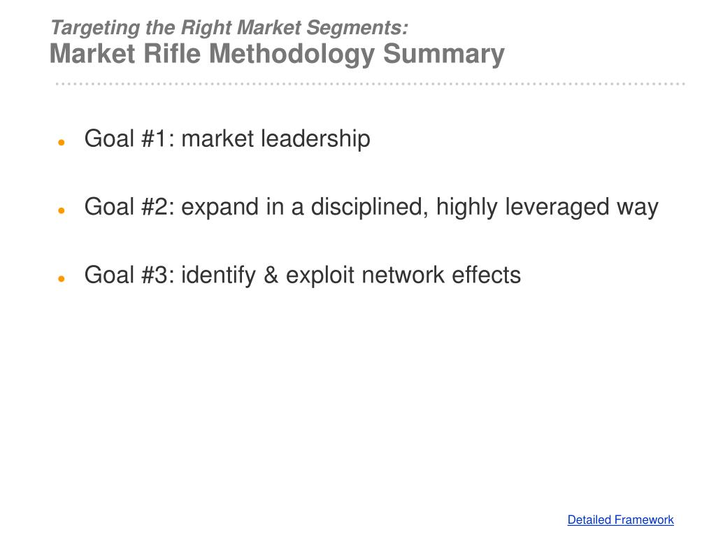 Targeting the Right Market Segments: