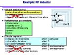 example rf inductor