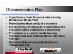 documentation plan