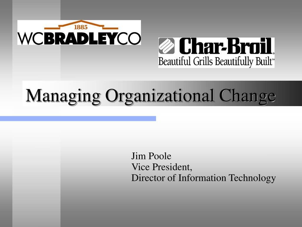 managing organizational change l.