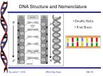 dna structure and nomenclature