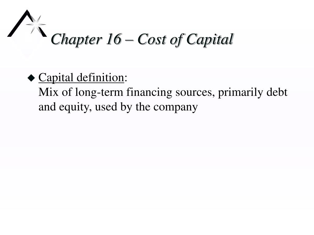 chapter 16 cost of capital l.