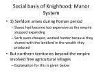 social basis of knighhood manor system