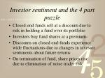 investor sentiment and the 4 part puzzle