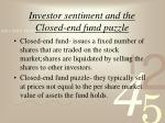 investor sentiment and the closed end fund puzzle