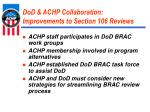 dod achp collaboration improvements to section 106 reviews
