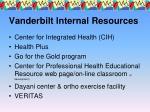 vanderbilt internal resources40