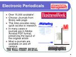 electronic periodicals