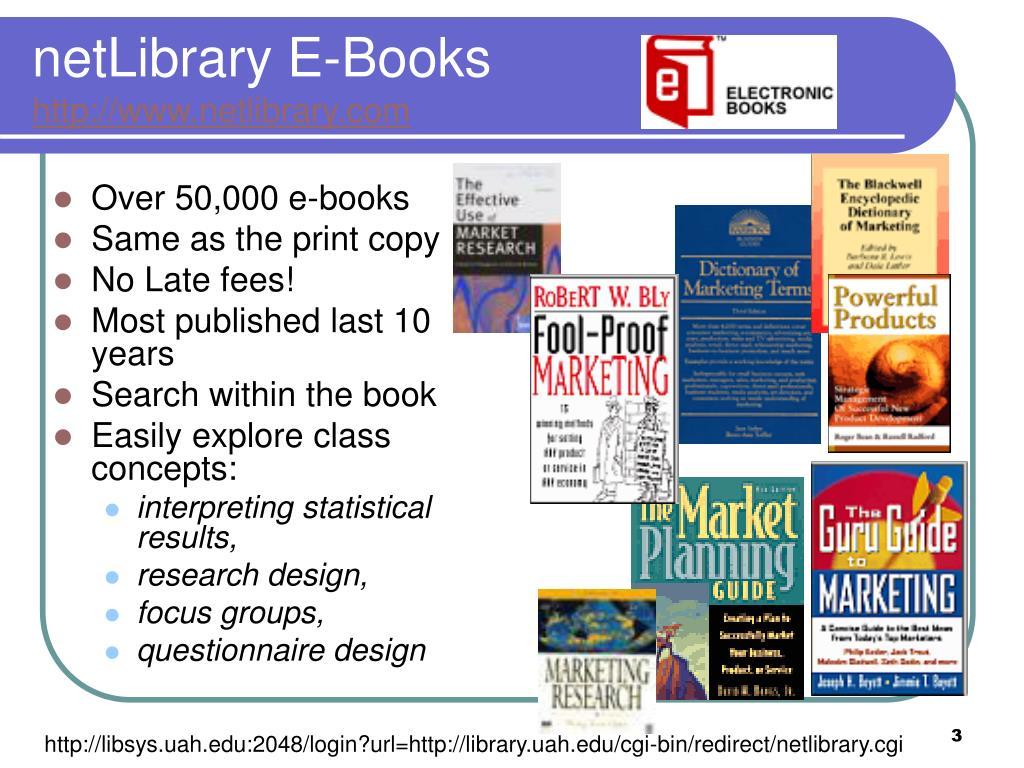 netLibrary E-Books