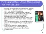 psychographic data lifestyle market analyst ref hf5415 33 u6 l54