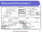 referenceusa example 2
