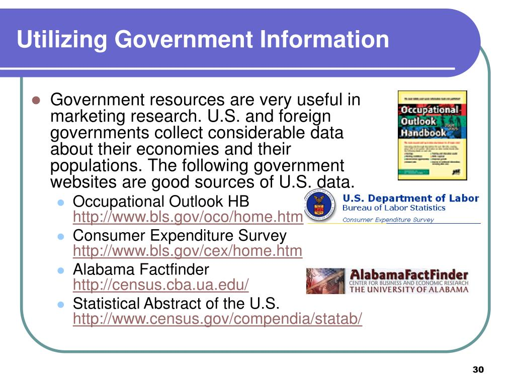 Utilizing Government Information