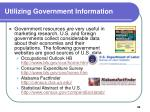 utilizing government information