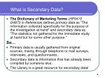 what is secondary data