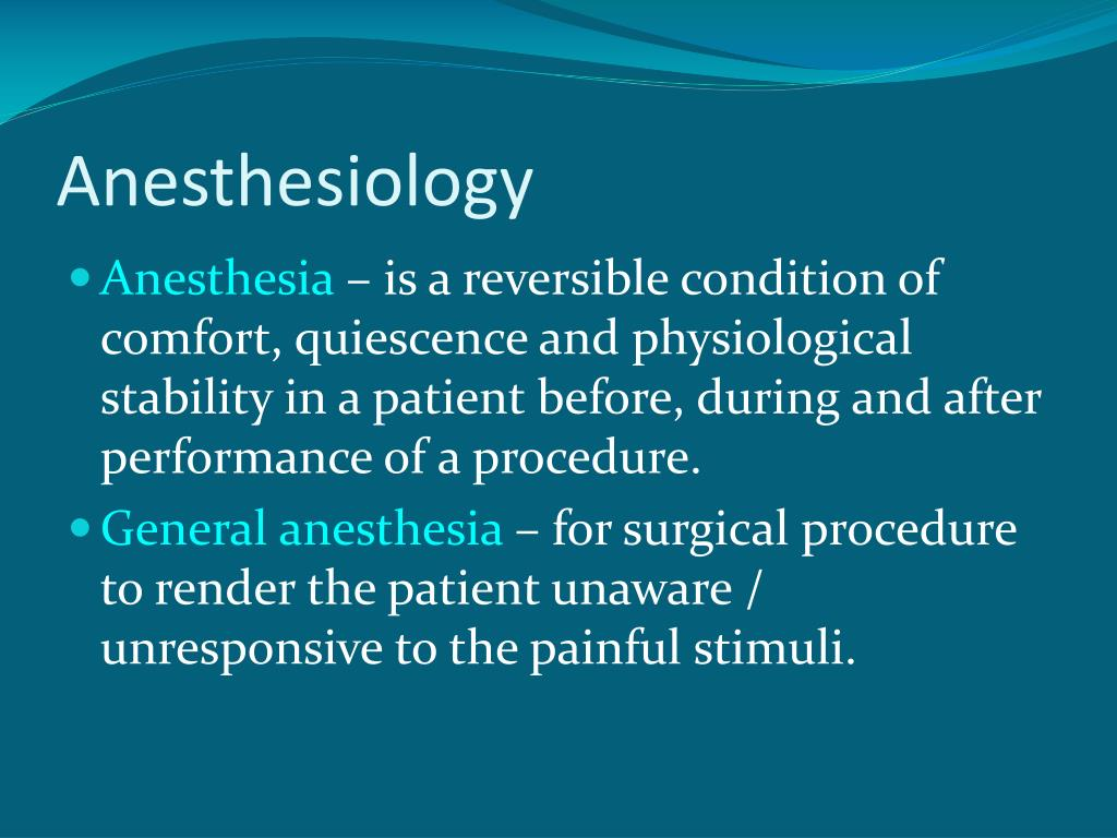 anesthesiology l.
