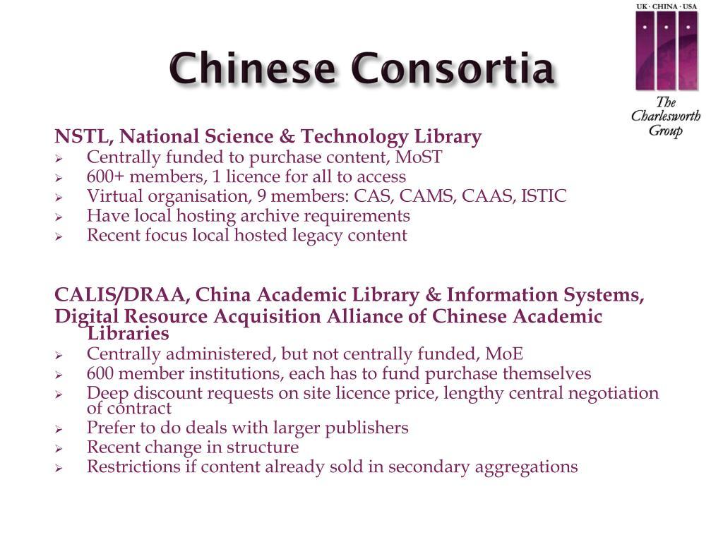 Chinese Consortia